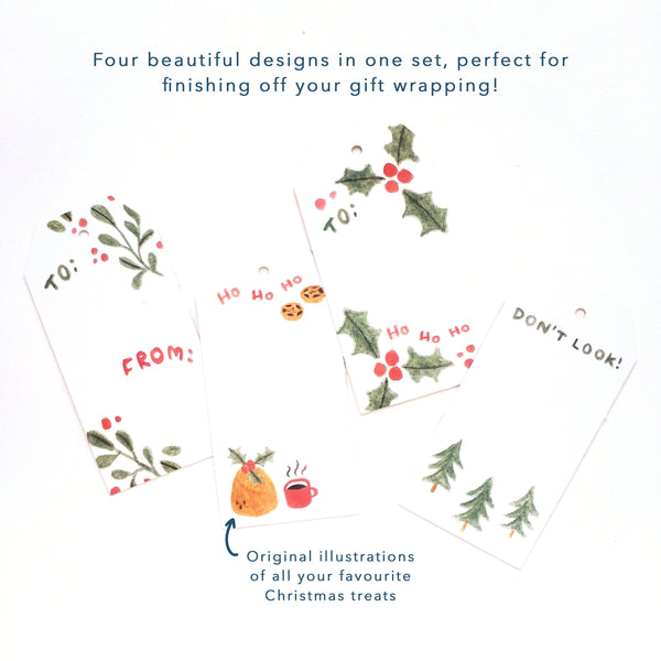 Four beautiful designs in one set, perfect for finishing off your gift wrapping!