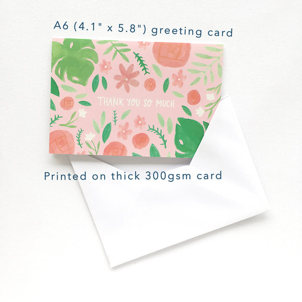 "A6 (4.1"" x 5.8"") greeting card, printed on thick 300gsm card"