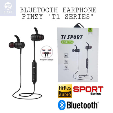Headset Bluetooth / Earphone Wireless Magnetic PINZY Original T1 Sport