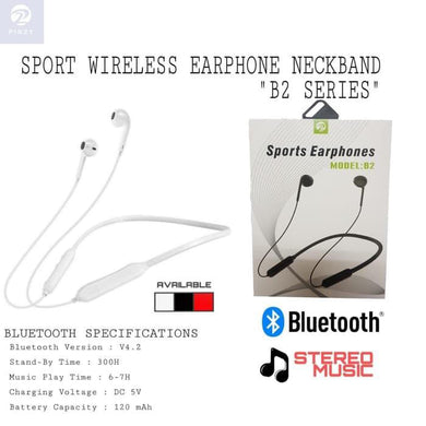 PINZY Wireless Earphone Sport Neckband B2 series