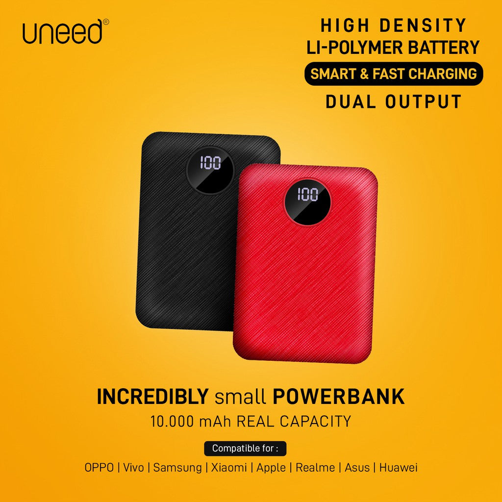 UNEED CompactBox L10 Powerbank 10000mAH with LED Display