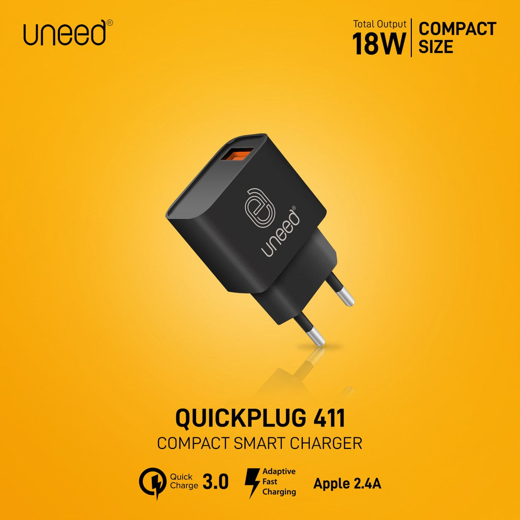 UNEED QuickPlug Wall Charger Quick Charge 3.0 Max 18watt