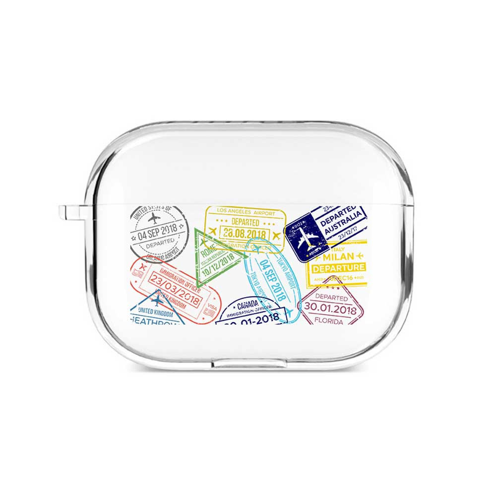 Passport Stamp Airpods Case
