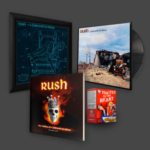 RUSH Super Bundle: A Farewell to Kings print + Graphic novel + Cereal box and Vinyl