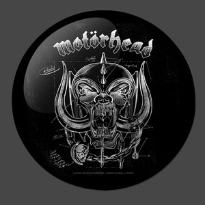 Motorhead B&W 3-Inch Button - Official merch