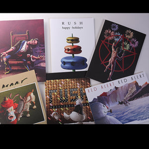 Official RUSH Christmas Cards ! pack of 6