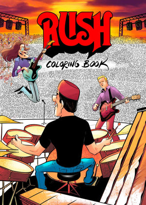 New!! RUSH Coloring Book Paperback