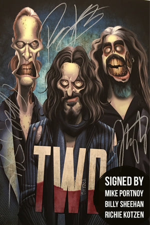 SIGNED Limited edition The Winery Dogs collectable Art Print!