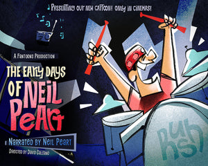 Limited Neil Peart Animated Short Poster (100 made) (16x20)