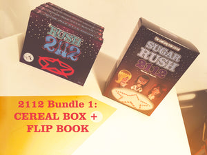 2112 Bundle 1: Flip book + Cereal Box
