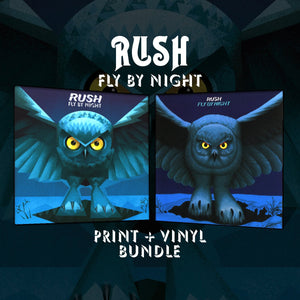RUSH: Fly By Night Print & Vinyl Bundle