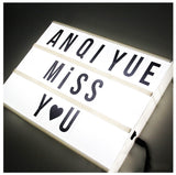 Cinema Lightbox DIY LED with decorative letters