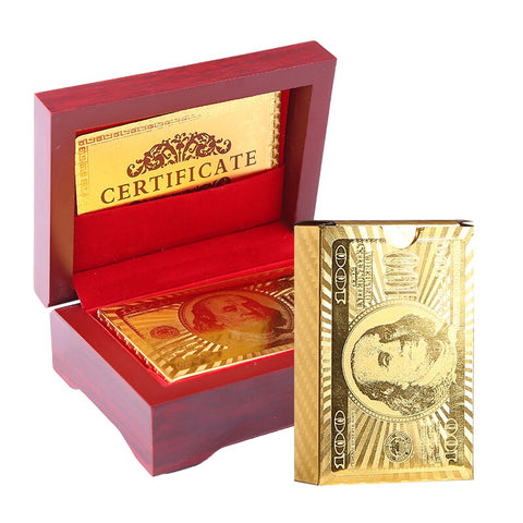 Luxurious 24K Gold Plated Playing Cards