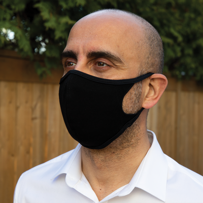 Defender Pro Black - Reusable Face mask with composite filter
