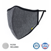 Defender Pro Gray - Reusable Face mask with composite filter