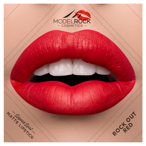 "Model Rock Matte Liquid Lipstick ""Rock-Out Red"""