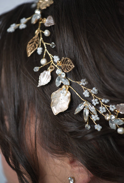 Autumn Bridal Hair Vine