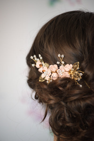 Elise Deluxe Hair Comb - Blush