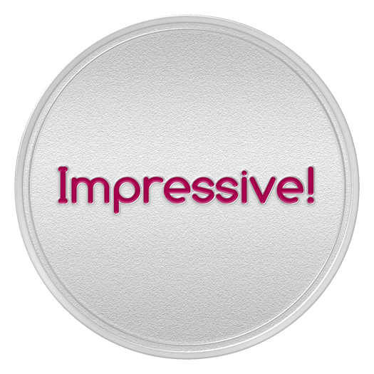 IMPRESSIVE Spot Award or 2nd Month Service Anniversary Coin