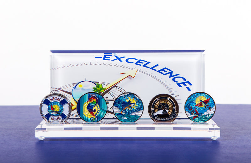 Excellence Coin Display with 5 Coins - 50% Off!