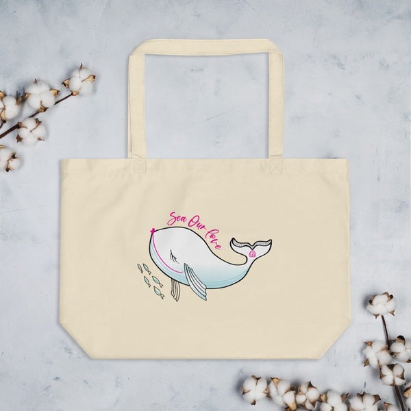 SEA OUR LOVE™ Eco Tote Bag (Large)