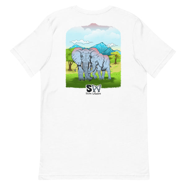 Savor the Moment Elephant Front & Back Design Tee
