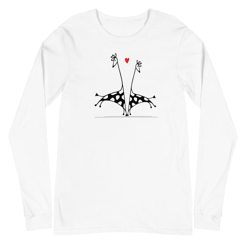 Giraffe Love Long Sleeve Tee
