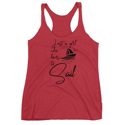 SEA OUR LOVE™ Just a Girl who Loves to Sail Racerback Tank
