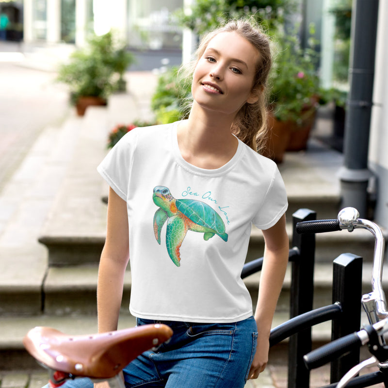 SEA OUR LOVE™ Sea Turtle Crop Top