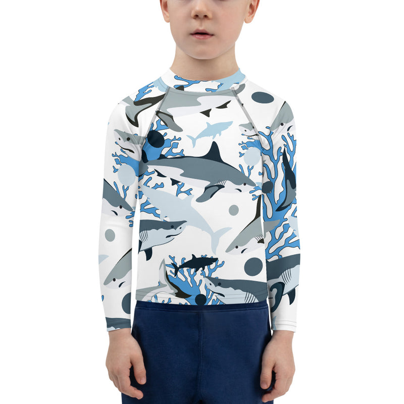 Shark Camo Kids Rash Guard