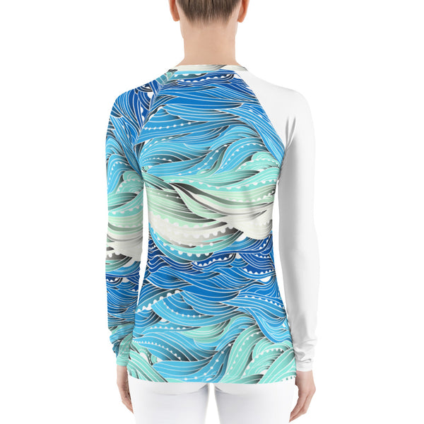 SEA OUR LOVE™ Ocean Waves Rash Guard