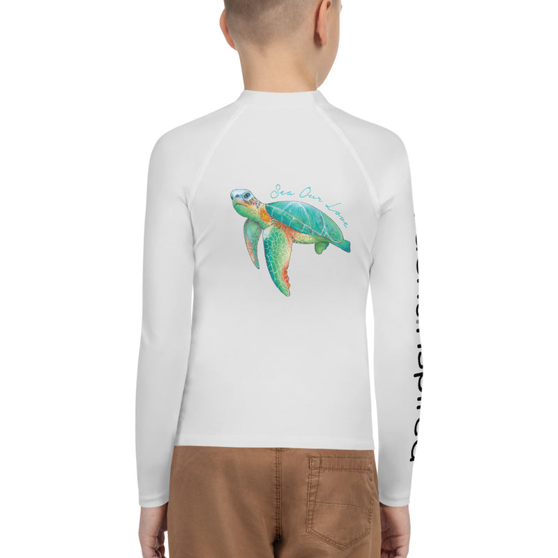 SEA OUR LOVE™ Sea Turtle Youth Rash Guard