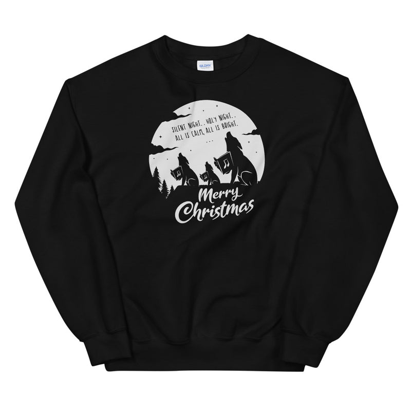 Merry Christmas Singing Wolves Sweatshirt