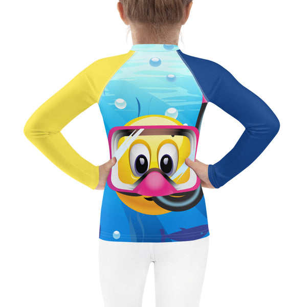SEA OUR LOVE™ Emoji Snorkeling Kid's Rash Guard