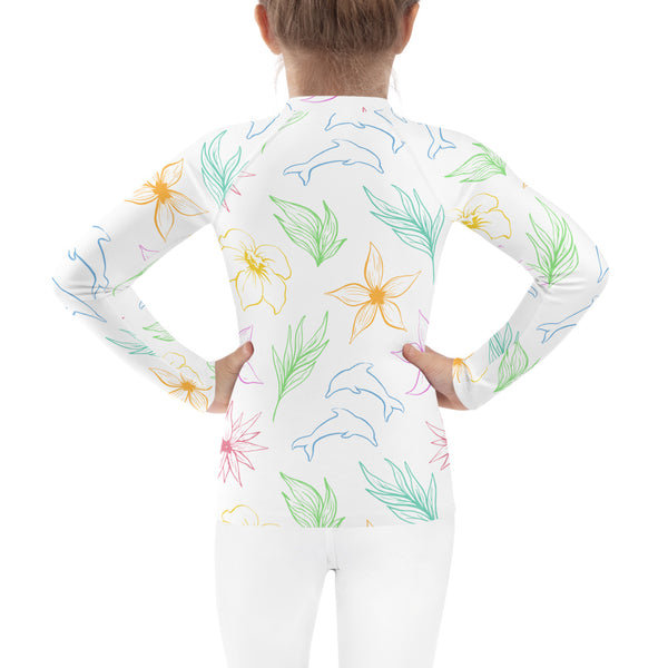 SEA OUR LOVE™ Dolphin Love Kid's Rash Guard