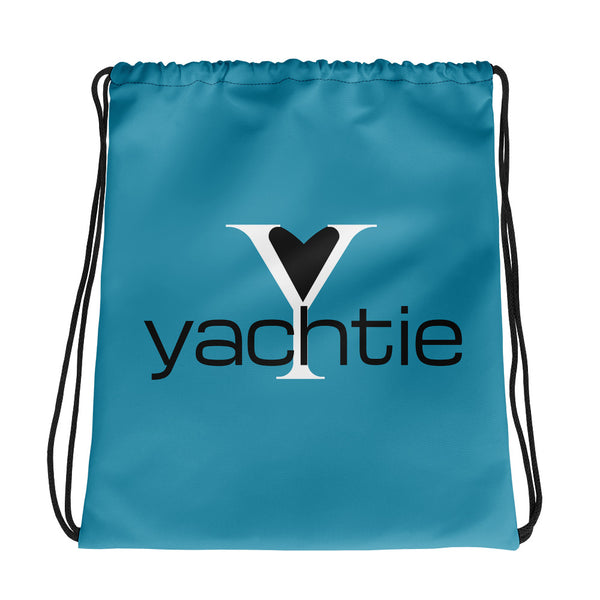 Yachtie Love Drawstring Bag (Ocean Blue)