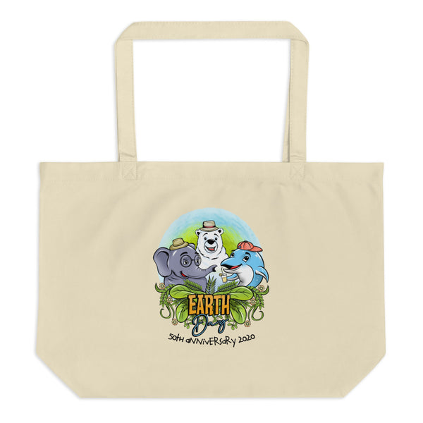 Earth Day 50th Anniversary 2020 (special edition) Large Eco-Tote Bag