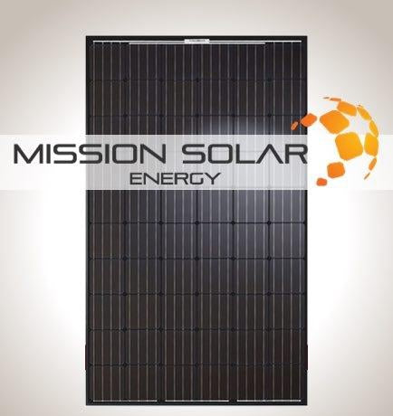 295W Mission Solar Panel MSE295SQ5T All Black Monocrystalline PERC module