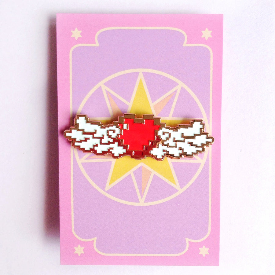 Winged Heart Pin