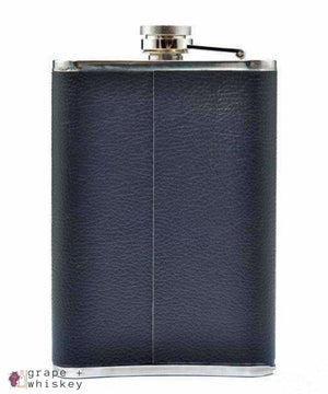 9oz Stainless Steel Hip Flask Set - Grape + Whiskey - grapeandwhiskey.com