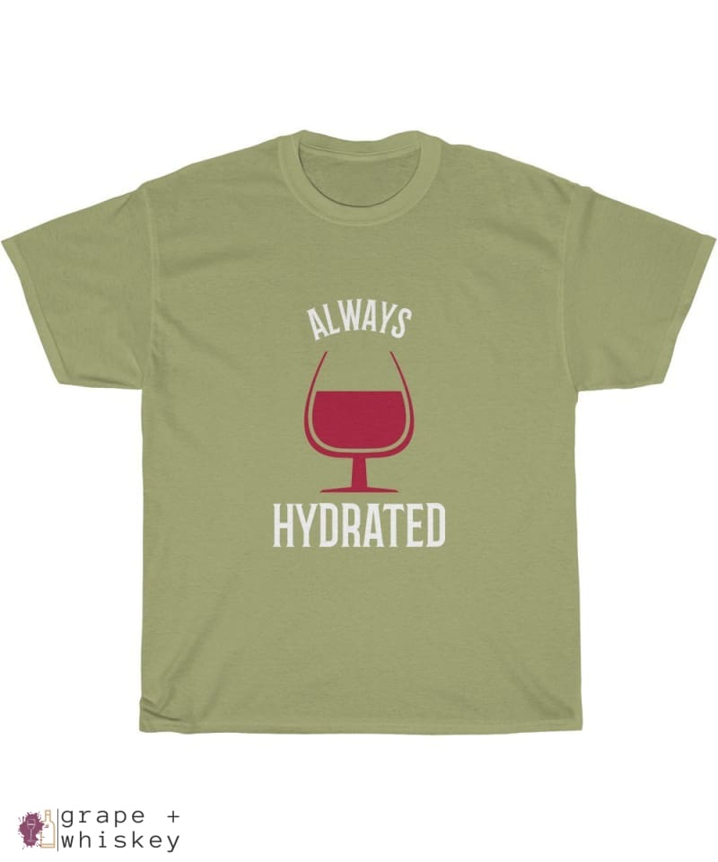 """Always Hydrated"" Heavy Cotton Tee - Kiwi / 5XL - Grape and Whiskey"