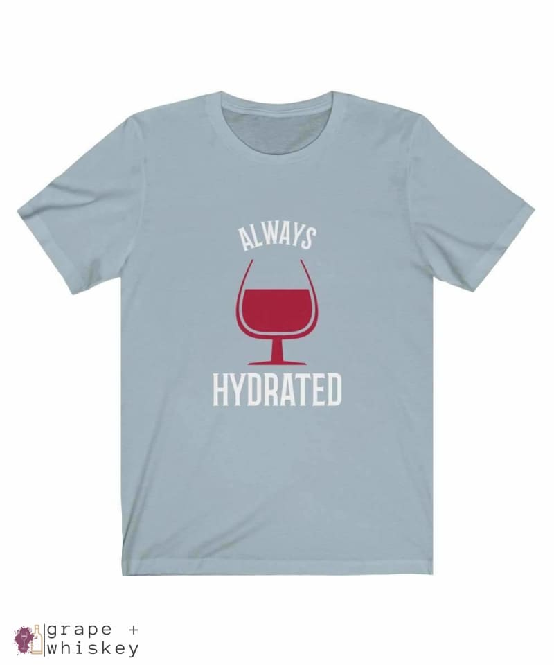 Always Hydrated Women's Short Sleeve Tee - Light Blue / 3XL - Grape and Whiskey