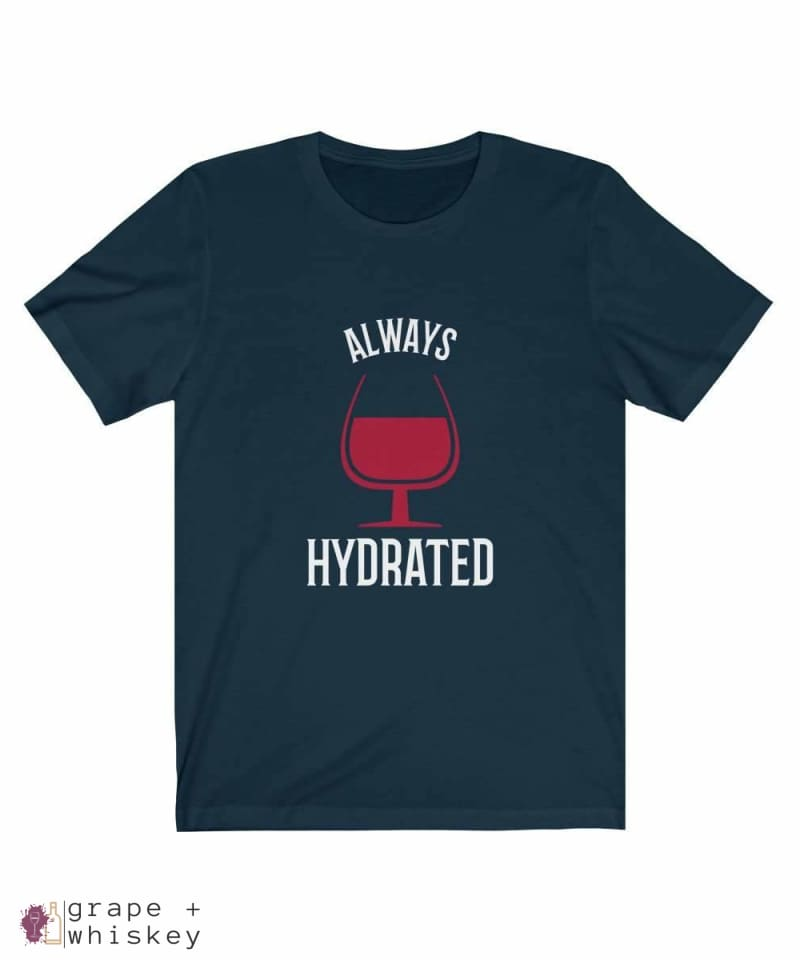 Always Hydrated Women's Short Sleeve Tee - Navy / 3XL - Grape and Whiskey