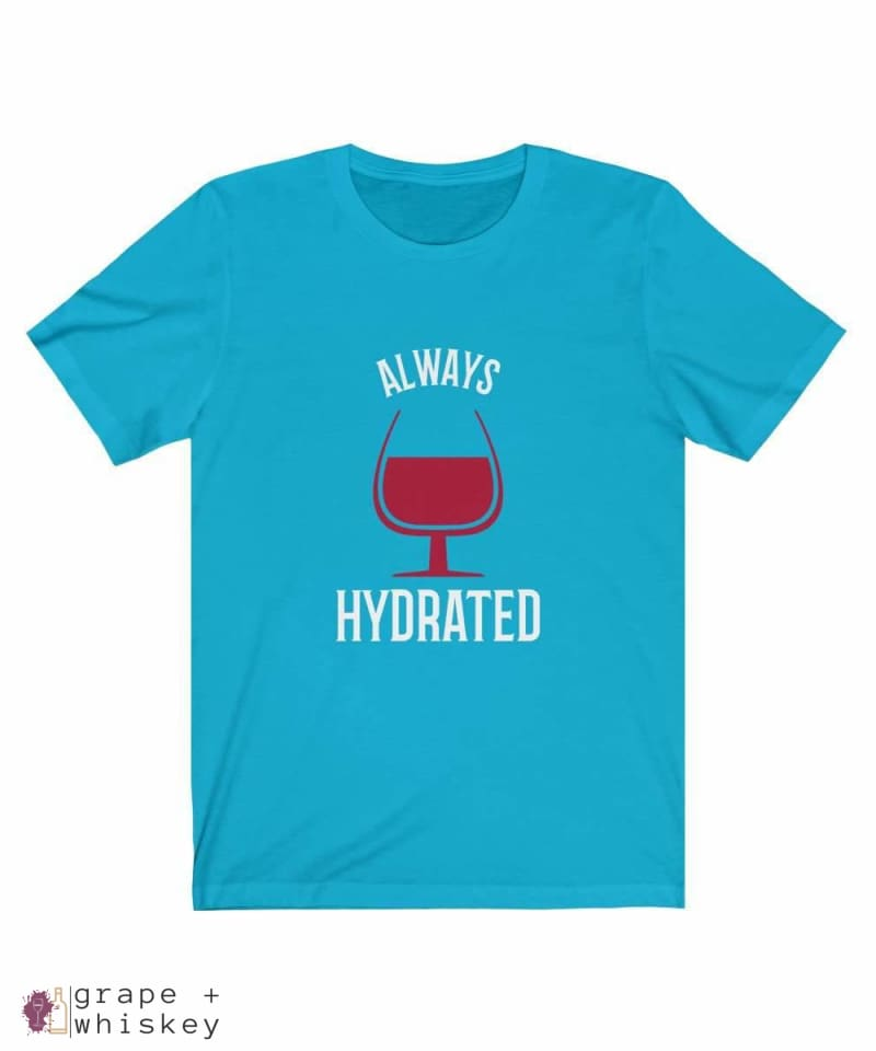 Always Hydrated Women's Short Sleeve Tee - Turquoise / 3XL - Grape and Whiskey