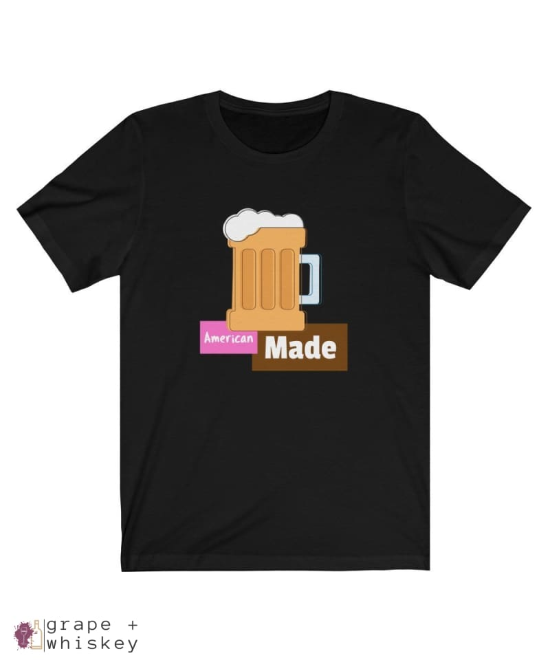 American Made Men's Lightweight Short Sleeve Tee - Black / 3XL - Grape and Whiskey