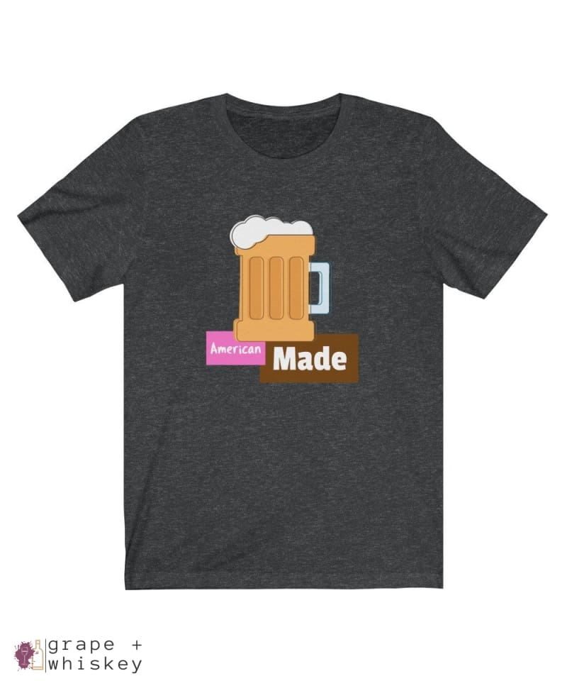 American Made Men's Lightweight Short Sleeve Tee - Dark Grey Heather / 3XL - Grape and Whiskey