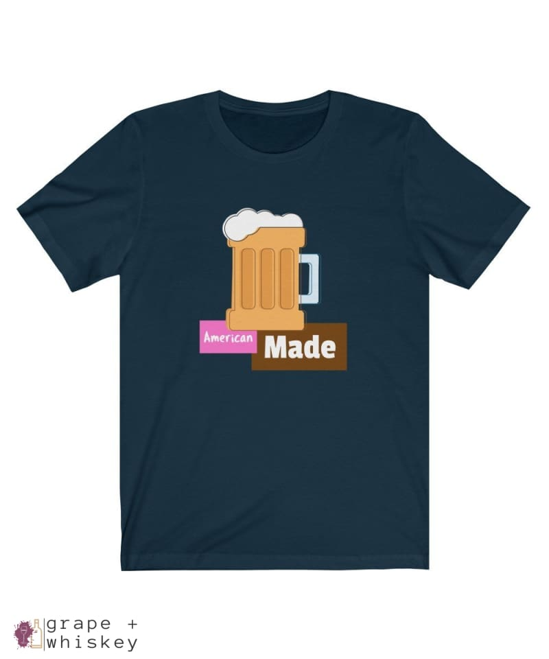 American Made Men's Lightweight Short Sleeve Tee - Navy / 3XL - Grape and Whiskey