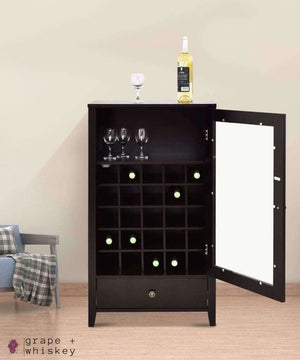 Artistic Wine Cabinet with Drawer - Grape + Whiskey - grapeandwhiskey.com
