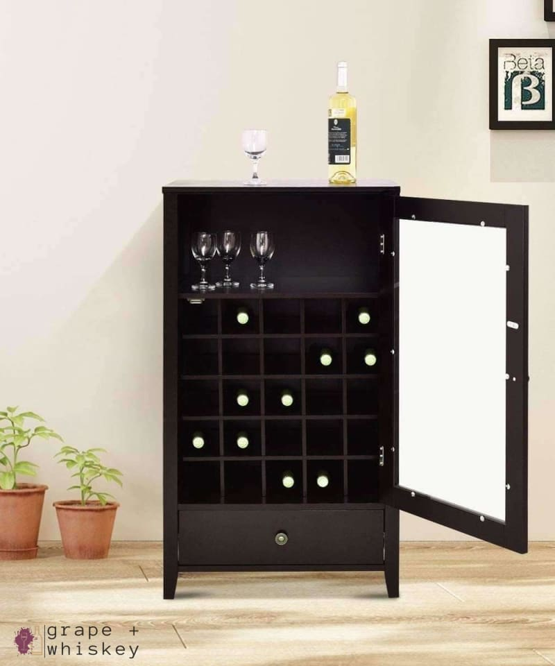 Artistic Wine Cabinet with Drawer -  - Grape and Whiskey