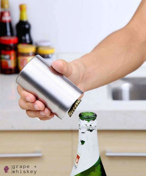 Automatic Beer & Bottle Cap Opener -  - Grape and Whiskey